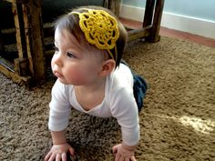 Hand Crocheted Golden Doily Headband by OhJustDandy on Etsy, $12.00