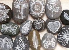 painted rocks by @Geninne D Zlatkis