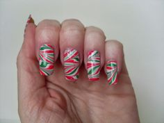 Bite No More: Christmas Nails Challenge- Candy Canes