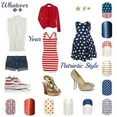 Patriotic Jamberry Nails ~ The Art Of Beauty~ #jamberrynails #theartofbeauty