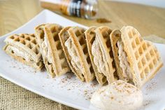 Low Carb Cinnamon Roll Waffle | For the entire waffle, you're looking at: 542 Calories, 50g Fats, 7g Net Carbs, and 23g Protein