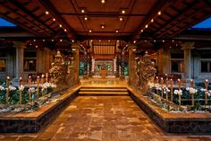 Lobby at 5 star hotel: Matahari Beach Resort & Spa. This hotel's address is: Jl. Seririt / Gilimanuk Pemuteran Bali 81155 and have 32 rooms Welcome Decor, Smoking Room, Balinese, Private Pool, Resort Spa, Beach Resorts, Front Desk, Lodges, Beautiful Places
