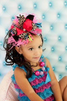 Leopard Zebra Glam and Bling Over the Top Hair Bow with matching headband on Etsy, $19.99