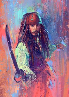Beautiful art of Captain Jack Sparrow (Johnny Depp) 🎀🎀🎀 Deco Pirate, Pirate Art, Pirate Life, Jack Sparrow Quotes, Sparrow Art, Captain Jack Sparrow, Immer Harry Potter, Jack Sparrow Drawing, Jack Sparrow Wallpaper