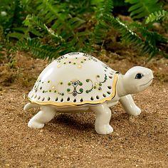 LENOX Figurines: Forest Animals - Jewels of Light Turtle Figurine
