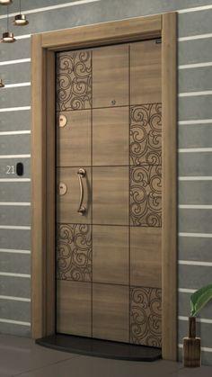 New flush door design modern ideas Wooden Front Door Design, Main Entrance Door Design, Wooden Front Doors, Wood Doors, Entry Doors, Entrance Ideas, House Main Door Design, Door Ideas, Modern Entrance Door