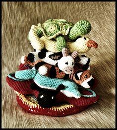 Ring Stacking Amigurumi Animal - Arium. Ring Stacka und Hughable Häkelanl Spielzeug..., $12.00 - Stapelturm Baby häkeln, Häkelanleitung