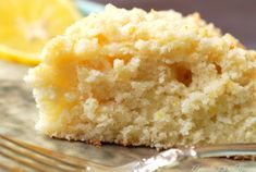 Meyer Lemon Coffee Cake Slice