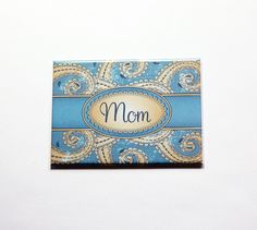 Personalized pocket mirror, Blue Paisley, Large Pocket mirror, Mothers Day gift, Custom Gift, mirror, Gift for her, Stocking Stuffer (7367) by KellysMagnets on Etsy