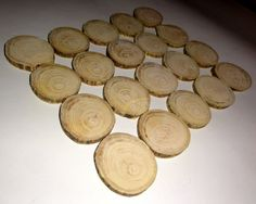 20 qty Wood Slices Wood Discs Rustic Coasters Tree by NayasArt