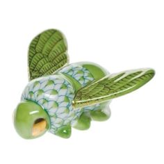 Herend Bumble Bee Lime. These eagerly await the chance to melt your heart and warm your home. Each is brought to life by the skilled hands of artisans crafting and painting these charming porcelain creatures. The famous fishnet décor adorning many of the animals took form in 1858 when a Herend painter became inspired by a fishscale design he saw on a Chinese porcelain plate and painted a similar pattern onto a rooster figurine to imitate feathers. Bering's