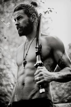 Is it wrong that I'm obsessing over vikings right now? If it is, I don't care (; Also, I don't think that is a viking sword but in my head this guy is a modern day viking. Lol