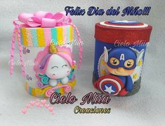 Diy Home Crafts, Crafts For Kids, Foam Crafts, Paper Crafts, Decorated Jars, Ideas Para Fiestas, Goodie Bags, Clay Art, Decoupage