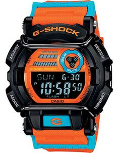 3940ea852a3 Casio G-Shock Trending Street Sport - Black Case - Orange   Blue Strap