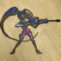 Widowmaker - Overwatch perler beads by dorginator