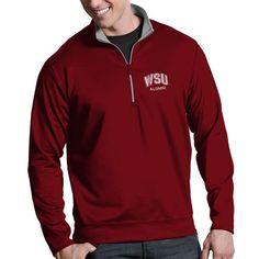 b78338d816b Washington State Cougars Antigua Alumni Leader 1 4 Zip Pullover Jacket -  Crimson