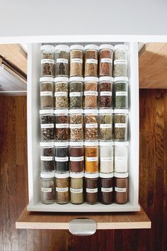organized spice drawer. this is what my kitchen dreams are made of!