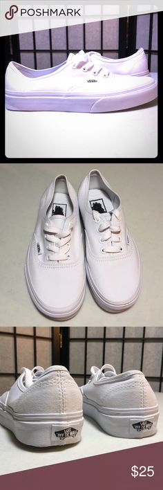 VANS OFF THE WALL White Sneakers Brand New Vans Sneakers Men's size 3.5 , Women's size 5 :FJ  My home is smoke-free and pet free.  Check out the other items in my closet.  20% off two or more items in my closet for a great bundle discount!   I consider all offers!   Happy POSHING!! Vans Shoes Athletic Shoes