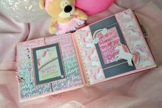 Free Digital Scrapbooking, Photo Album Scrapbooking, Scrapbook Albums, Mini Photo Albums, Mini Albums, School Scrapbook Layouts, Baby Mini Album, Diy Crafts For Girls, Mini Album Tutorial