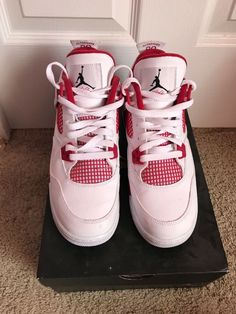 huge discount 912f9 2fe8d Nike Air Jordan 4 Retro Flight Size 6.5Y Alternate 89 White Red 408452-106
