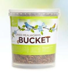 Dried Mealworm Bucket 14 Oz - Suitable for Parrots Wild Bird Food, Wild Birds, Budgies, Parrots, Bird Cages, Backyard Birds, Bird Toys, Worms, Blue Bird