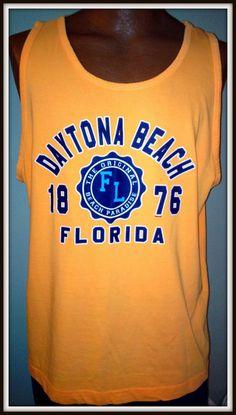 DAYTONA BEACH FLORIDA 1876 WINGS BEACH OUTFITTERS ADULT XLARGE MUSCLE TSHIRT