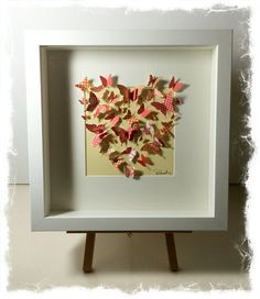 Shadow box frame with butterfly heart by TraceyGrundyDesigns, £25.00