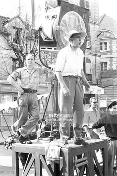 Shooting Of The Film 'Mon Oncle' By Jacques Tati. Saint-Maur