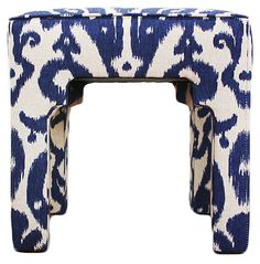 One Kings Lane - Mad for Navy - Hicks Stool, Navy