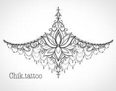 Sternum Tattoo Design, Tattoo Femeninos, Brain Tattoo, Body Art Tattoos, New Tattoos, Small Tattoos, Tattoo Designs, Lace Tattoo, Chest Tattoos For Women