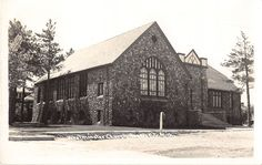 Rogers City Michigan Westminster Church Real Photo Antique Postcard (J14941)