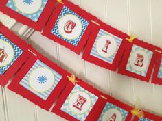 free party printables for these Circus themed banners. Cirque Du Bebe