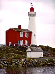 Fisgard Lighthouse in Colwood, British Columbia, Canada.