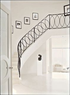 Foyers & Stairways... beautiful railing