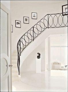 Foyers & Stairways... beautiful railing