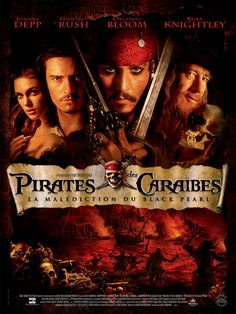 Pirates of the Caribbean #movies.  I haven't seen them all but as non chick flick movies go I liked them.