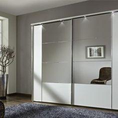 White Sliding Door Wardrobe With Mirror