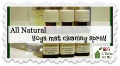 All Natural Yoga Mat Spray for cleaning and sanitizing your yoga mat