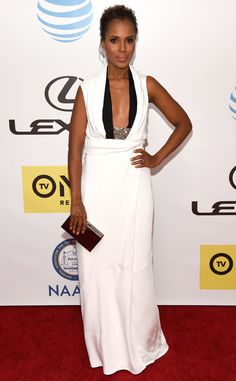 Kerry Washington from NAACP Image Awards 2016: Red Carpet Arrivals | E! Online