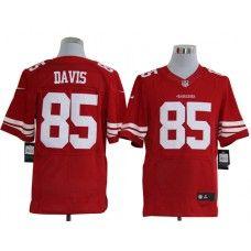 e3b2d2a75 Nike Vernon Davis Jersey Elite Team Color Red San Francisco 49ers  85  Patrick Willis
