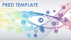 Colorful Prezi Template with circles and a 3D background effect.  Create a smooth and flowing Presentation.  Use the icons from the Prezi insert menu to illustrate your content.