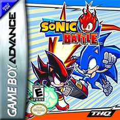Sonic Battle (SEGA), GBA; fighting game developed by Sonic Team & published by Sega & THQ. It is the second Sonic based fighting game. The first being Sonic the Fighters. was released in North America in 2004. It was also the first Sonic game in Japan to feature cursing. Battles are fought in 3D arenas with up to 4 players. Each character has a set of attacks & abilities. game received generally mixed to positive reviews.