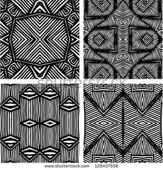 black and white african patterns - Google Search