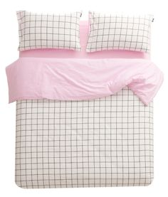 Athens Grid Lines in Baby Pink Cover Set | Sleepy Bum ($159.00) - Svpply