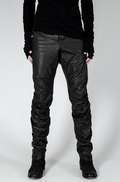 Visions of the Future: Lentrian - Twisted leather pant - orimono.eu