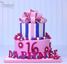 Daphnee 16th Sweet 16 Cakes | Patisserie Tillemont | Montreal