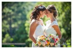 Two gorgeous brides can legally wed in a same sex marriage! Hollins House in Santa Cruz. GLBT Wedding portraits