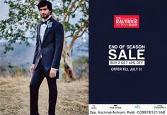 Have enough space in your closet?  Hurry Up! Indulge in shopping at The Raymond Seconds Shop - Paldi's because our 'End of Season Sale' is ending in 2 days!  #EOSS #EndOfSeasonSale #Raymond #Gentleman #India #Ahmedabad #GentlemanClothing #Style #Fashion #Menswear #Sale #SaleSeason #Shopaholics #ShopNow #Weekend