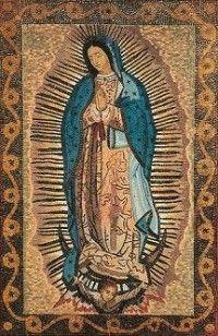 Opus Dei - Mosaico de la Virgen de Guadalupe en el Santuario de Torreciudad (Huesca, España)