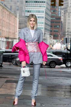 Уличная мода Нью-Йорка осень-зима 2018-2019